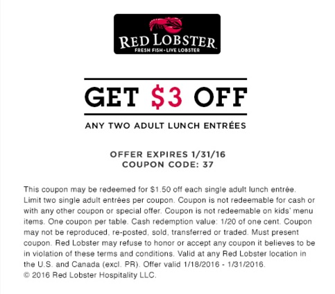 red lobster promo coupons