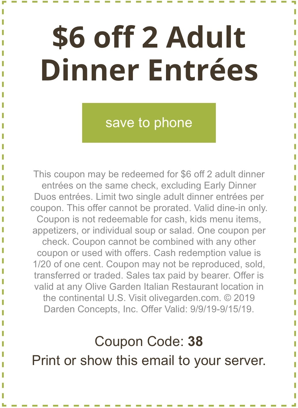 graphic about Olive Garden Printable Coupons referred to as Complete Browsing Area